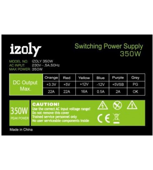 IZOLY 350W 12CM FAN Power Supply