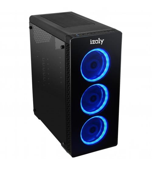 İzoly GLOSSY BLUE 3XLED GAMING CASE 460W PEAK