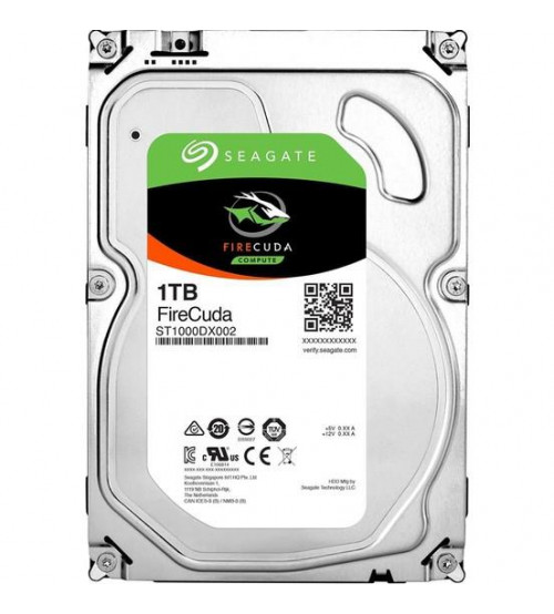 Seagate Firecuda 1TB 7200RPM Sata 3.0 + 8GB SSD 64MB 210MB/s SSHD Performans Gaming Disk ST1000DX002